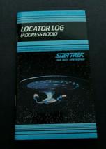 Star Trek Vintage 1991 Locator Log Address Book Next Generation New Old ... - $12.99