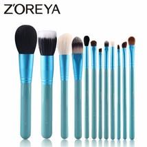 Zoreya® 12Pcs/Set Natural Goat Hair Soft Makeup Brush Professional Make Up - €25,07 EUR