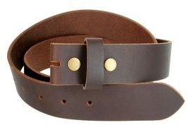 100% Solid Cowhide Black Leather Belt Strap (Brown, 30) - $15.83