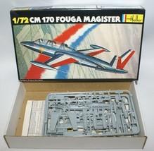 Vintage HELLER 1:72 Scale CM170 FOUGA MAGISTER French Fighter Plane Mode... - $15.00