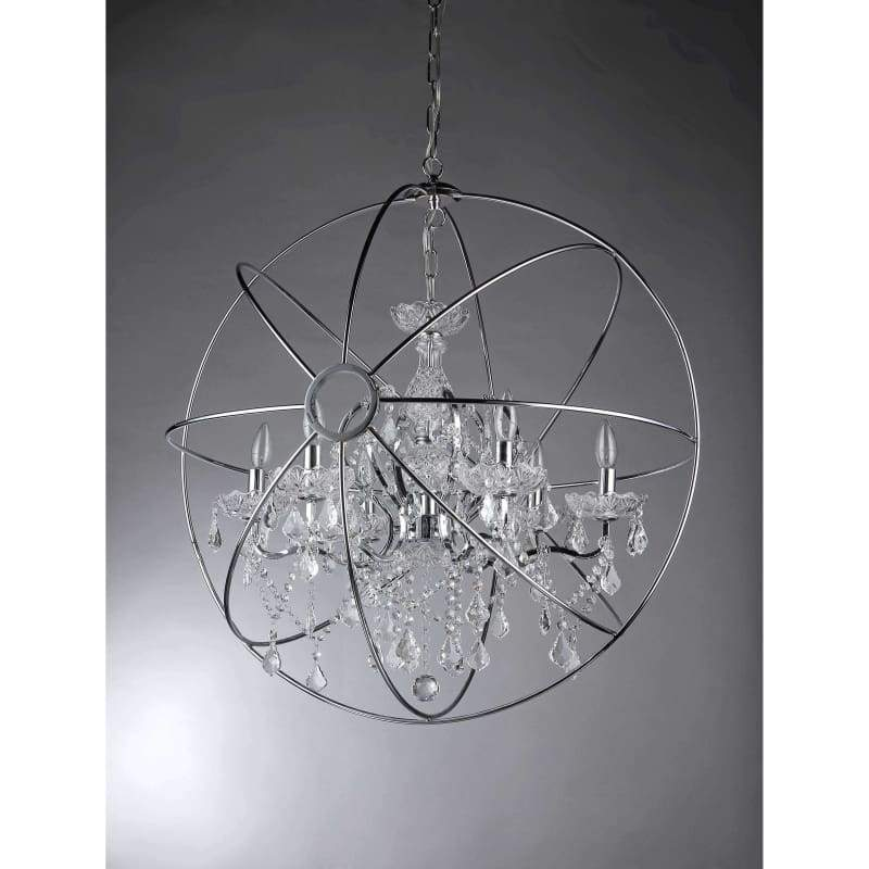 """Warehouse Of Tiffany Saturn Ring 16"""" Chandelier Chrome"""