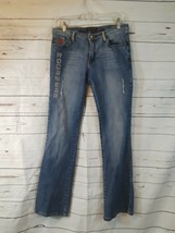 Rocawear Jeans Juniors Size 9 Beaded Embellished Distressed Embroidered - $12.19