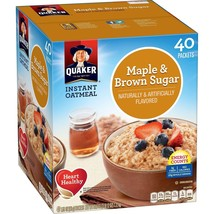 Quaker Instant Oatmeal, Maple Brown Sugar (40 ct.) - $15.99