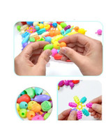 100PCS SET Pop Beads Arty DIY Jewelry Necklaces Children Toys Snap Tog... - $7.99