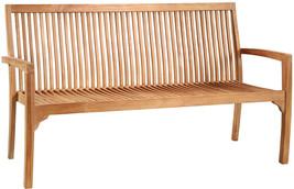 "Solid Premium Teak Garden Pool Patio Bench, 63""L - $692.01"