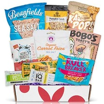 Vegan and Gluten Free Snack Box Care Package - Mix of Vegan Chips, Protein Bars,