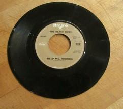 The Beach Boys 45 RPM Vinyl Record Do You Wanna Dance & Help Me, Rhonda - £4.58 GBP