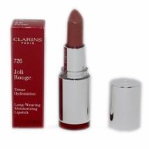 Clarins Joli Rouge LONG-WEARING Moisturizing Lipstick 3.5G #726 NIB-CL441351 - $21.29