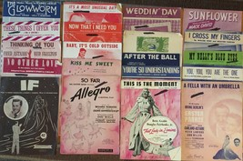 Lot 34 Vintage 1940s 50s Piano Sheet Music~Show Tunes Movie Scores Popul... - $36.47