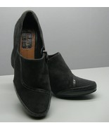 Clarks Artisan SHOES Woman's 6 M Heels Gray Suede Leather Side Zippers S... - $15.83