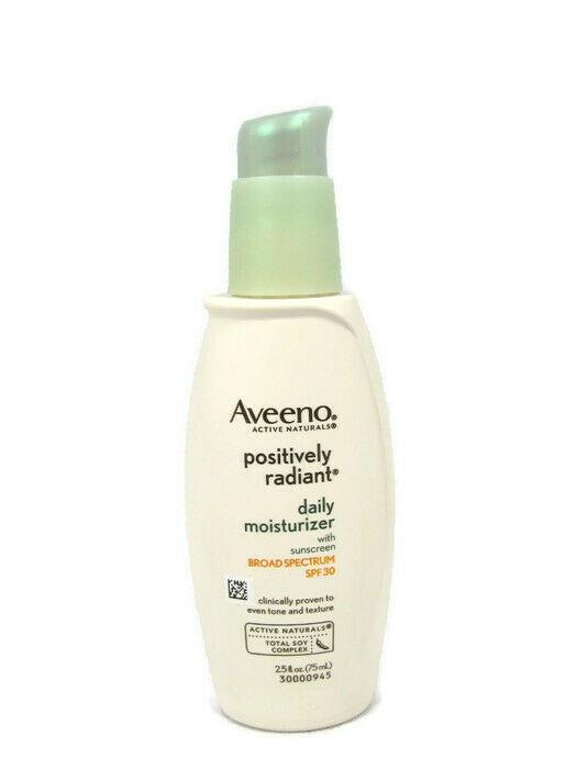 Aveeno Positively Radiant Daily Moisturizer With Sunscreen SPF30 2.5fl Oz