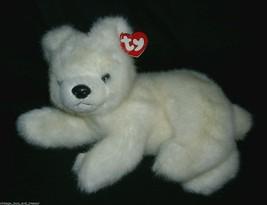 Ty Aurora The Polar Bear White W Tag 1995 Fuzzy Retired Stuffed Animal Plush Toy - $23.38