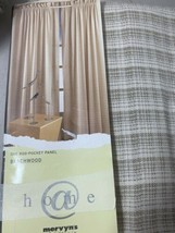 "MCM 2 Curtains 40"" X 83 Color Beechwood Semi See through Pair Both - $37.04"
