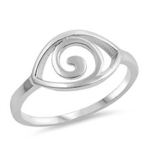 Women's 925 Sterling Silver Spiral Eye Band Ring Size 5-10 - $11.50