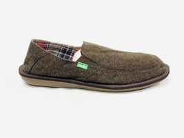 Sanuk Navy Brown Vice Tx Sidewalk Surfer Shoes Slip On Loafers Men Us Size 9 New - $34.99