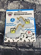 Bigmouth Inflatable Pool Party Beverage Boats Unicorns Floating Cup Holder - $8.90