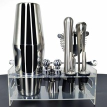 Bartender Kit Racks Pourer Ice Tongs Cocktail Shaker Premium Barware Set... - $15.76+