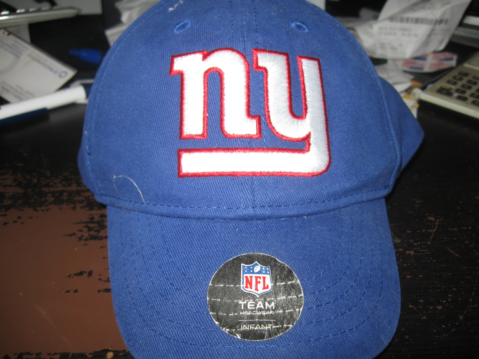 NY GIANTS TODDLER(INFANT) HAT EMBRIODED!