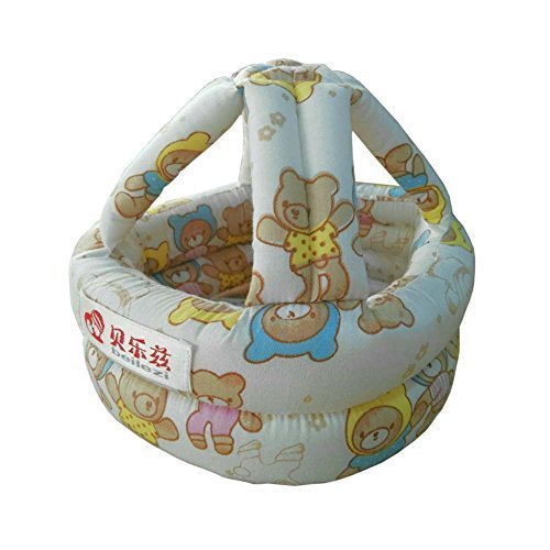 Protective Cartoon Bear Baby Drop Resistance Crash Helmet Headgear Safety Cap