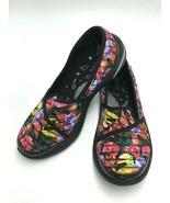Bzees 6 Pink Yellow Purple Floral Black Stripe Lakeside Comfort Shoes Sl... - $36.99