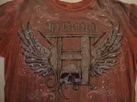 Affliction Musical Group Concert Tour Fan Red T Shirt Size M - $16.82