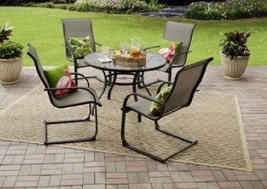 Patio Dining Set Garden Round Table Deck Chairs Porch Outdoor Balcony Fu... - €237,23 EUR