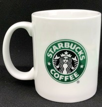 2006 Starbucks Mermaid Siren 12 oz Coffee Mug Cup White Green Collectible - $9.86