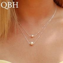 NK1023 Hot Sale Fashion Sweet Double Layers imitation Pearls Ball Droplets Penda - $7.78