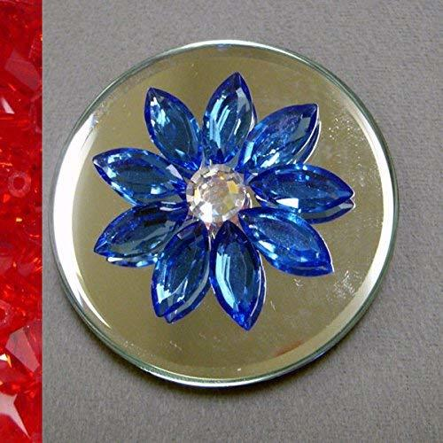 J'Leen Crystal Mirror Decoration  Siam Daisy