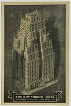 Old VTG White Border Postcard The New Yorker Hotel NY NYC 34th St - $11.75