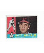 1960 Topps #395 Hoyt Wilhelm, Baltimore Orioles HOF - $7.40