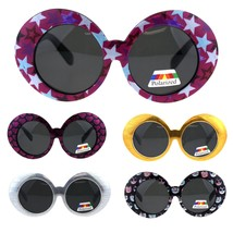 Polarized Childen Girls Mod Round Circle Oval Thick Plastic Fashion Sung... - $9.95