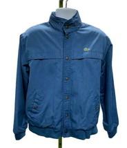 Vintage 80's IZOD LACOSTE Alligator Jacket Lined Bomber M Hidden Hoodie ... - $62.55