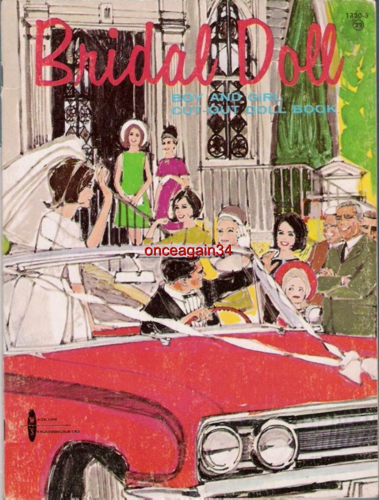 VINTAGE UNCUT 1950/'s BRIDAL PARTY PAPER DOLLS~#1 REPRODUCTION~LOVELY WEDDING SET