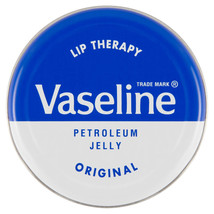Vaseline Lip Therapy Petroleum Jelly Original 20g Tin Soothes Dry Skin A... - $4.76