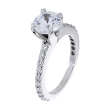 Engagement Ring Setting for a 1.5CT Round Center, 0.60CT Total Diamond S... - $1,480.50
