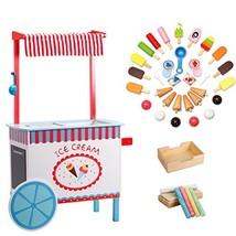 Svan Ice Cream Cart Real Wood Construction, with Money Box, Chalkboard, ... - $114.87