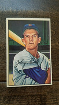 1952 BOWMAN BASEBALL CARD JOHNNY GROTH DETROIT TIGERS BROWNS SENATORS A'... - $7.99