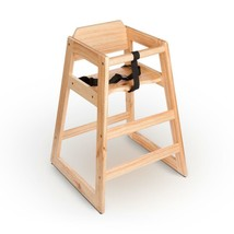 New Restaurant Style Wooden High Chair - Natural Finish - $29.99