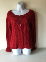 American Eagle Outfitter Womens Sweater Medium Red Long Sleeve - $14.84