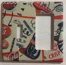 Coke Coca Cola bottles wallpaper Light Switch Outlet wall Cover Plate Home decor image 4