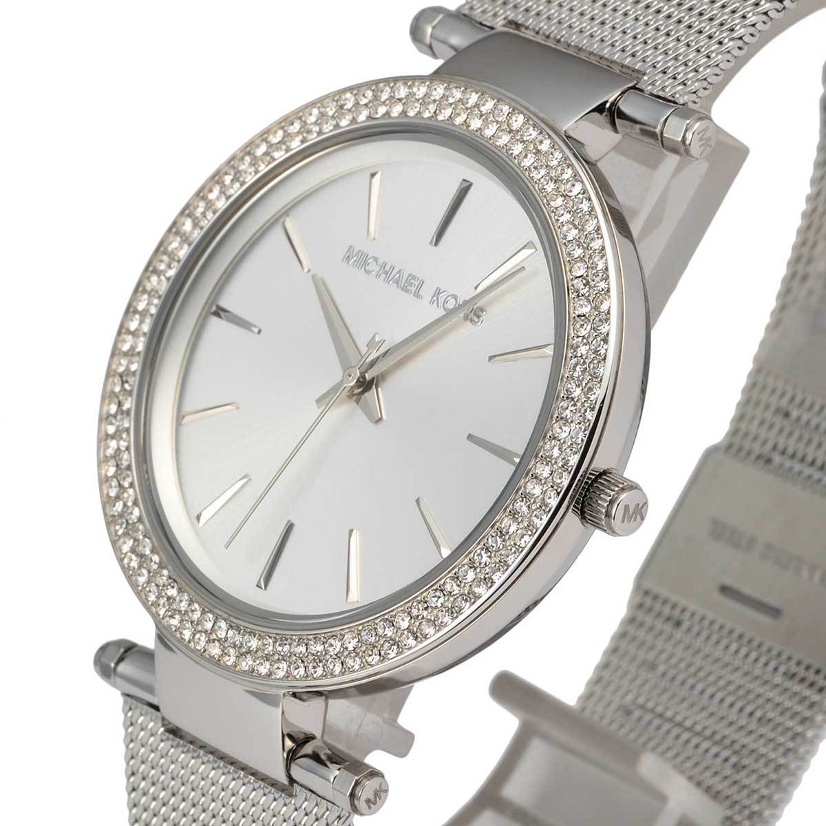 2e86ae8f35a3 100% New Michael Kors Silver Darci Stainless Steel Bracelet Women s Watch  MK3367