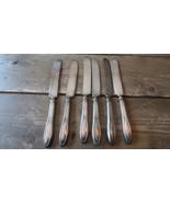 6 Antique 1915 Associated Silver Co Panama Flatware Knives - $35.64