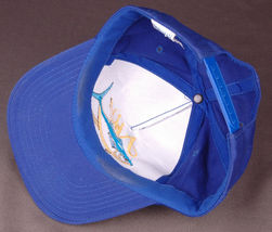 Vtg AHI Hawaii Hat-Blue-Snapback-Fish-Island-Vacation-Dorfman Pacific-Trucker image 6