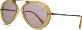 LOT OF 10 Tom Ford Men's Aviator Sunglasses TF 0473 Aaron 39Y Yellow/Pink New 53 - $940.50