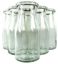 Old Fashioned Heavy Clear Glass Half Pint Milk Bottle, Decanter Cream Se... - $29.72