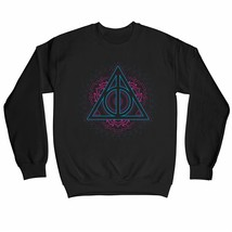 Harry Potter Deathly Hallows Neon Symbol Children's Unisex Black Sweatshirt - $25.07