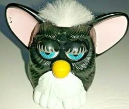 VTG 1998 Black Plastic Furby White Haired Eyes Flutter McDonalds - $7.69
