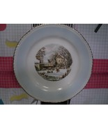 """Homer Laughlin """"The Farmer's Home In Winter"""" Decorative Currier & Ives P... - $10.80"""