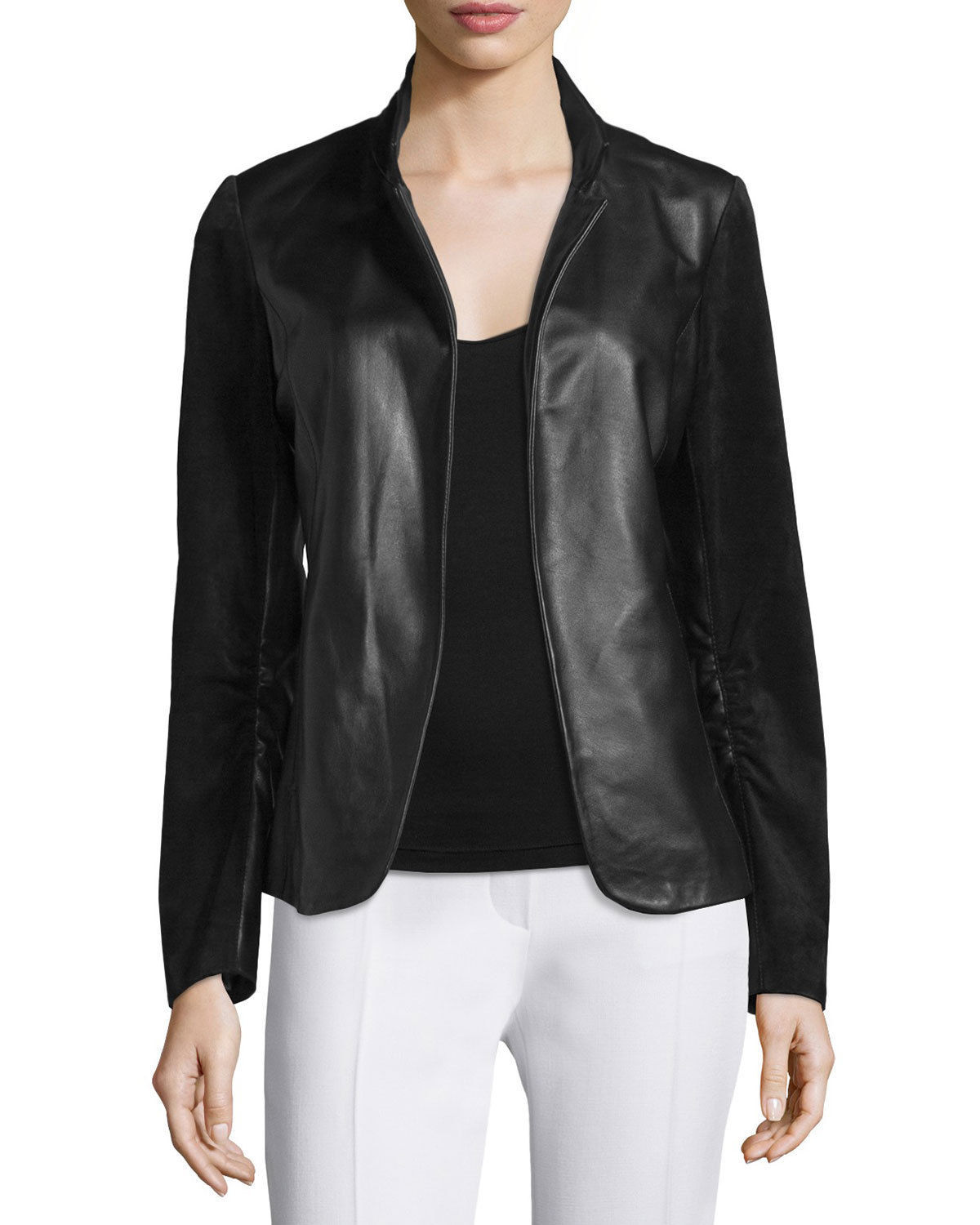 WOMEN BIKER MOTORCYCLE CASUAL SLIM FIT RIDER REAL GENUINE  LEATHER JACKET-A99
